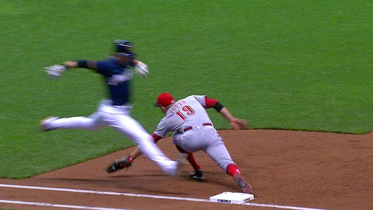 Reds turn double play