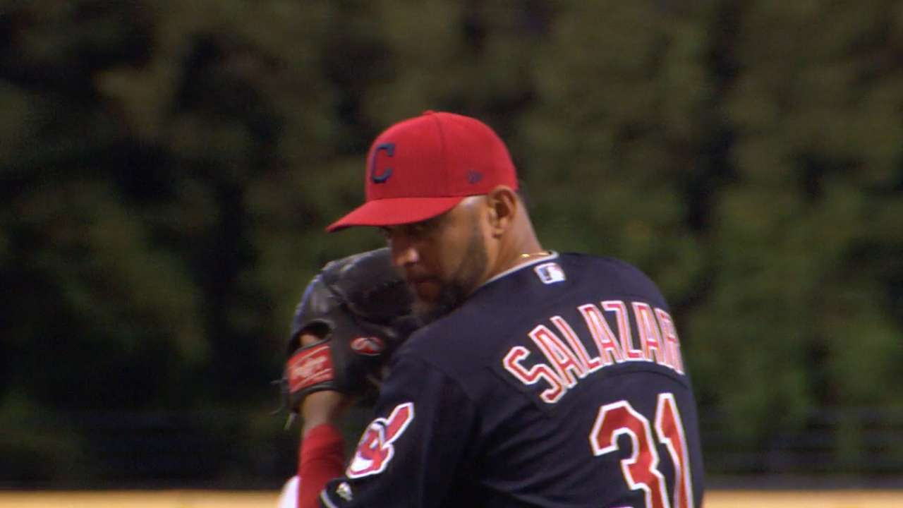 Salazar's nine-strikeout outing
