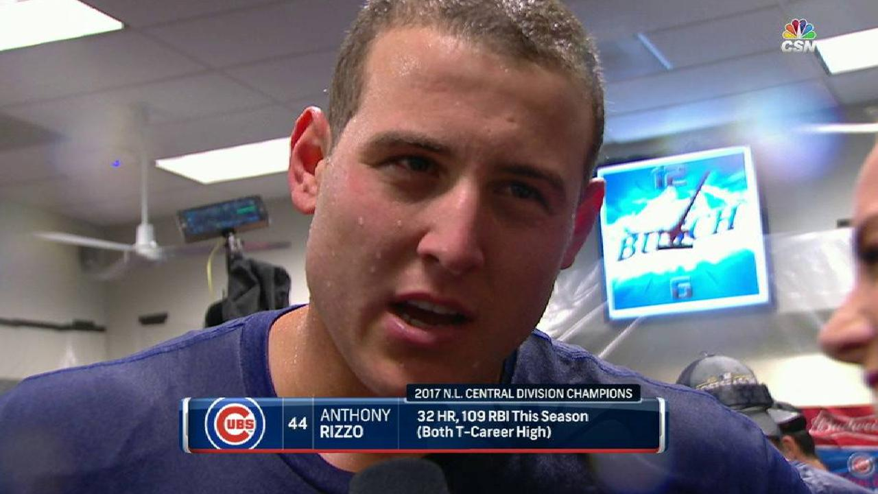 Rizzo on Cubs clinching division