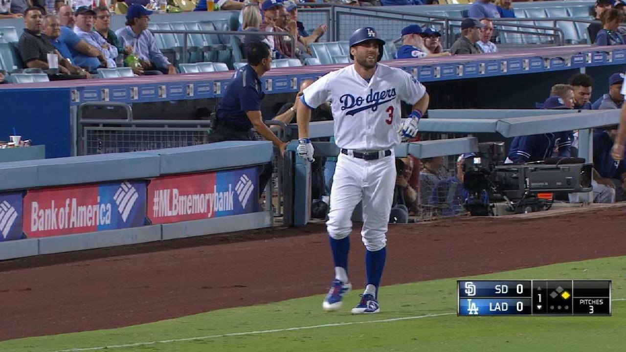 Taylor OK after slipping on first base