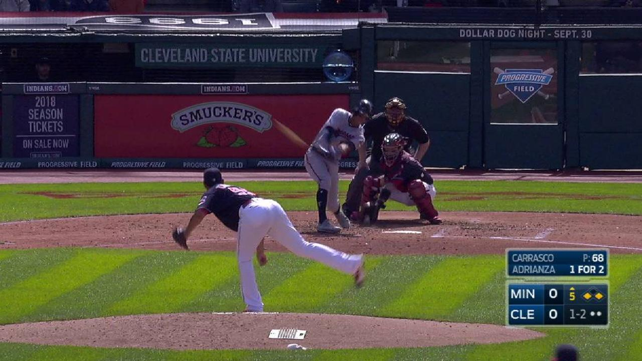 Carrasco strikes out the side