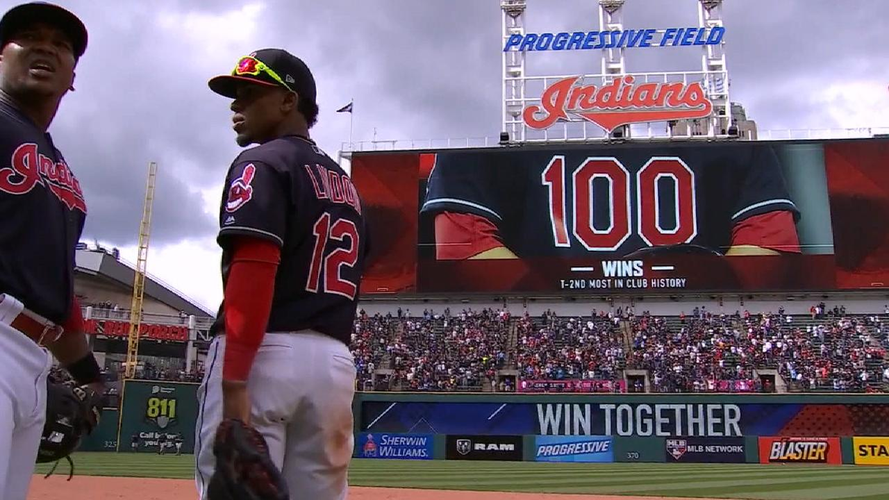 Indians on reaching 100 wins