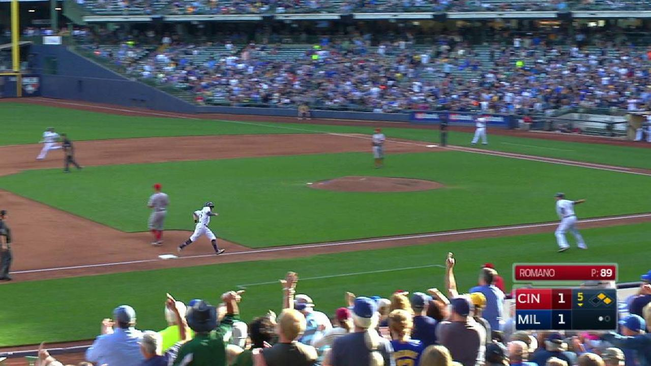 Brewers take the lead