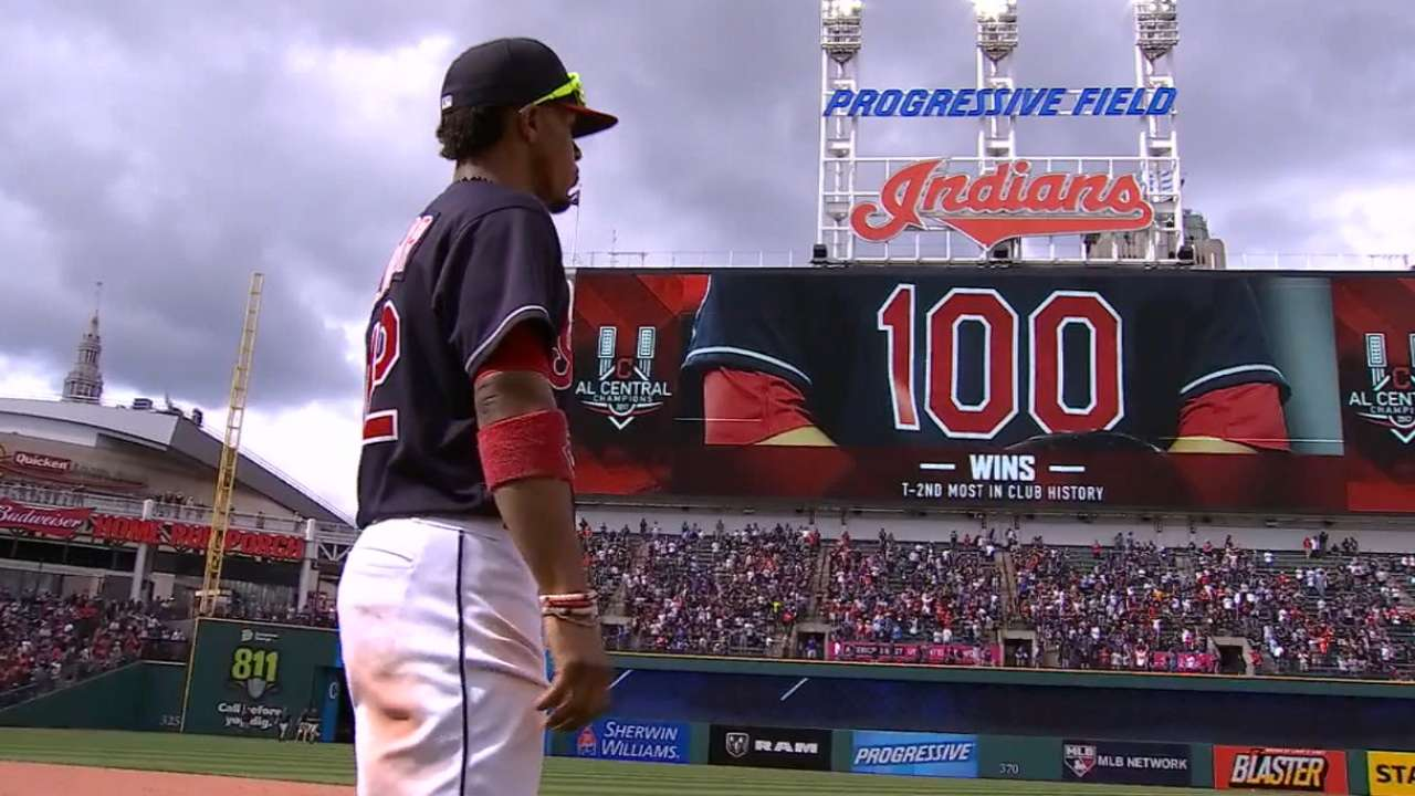 Tribe at 100! Magic No. 2 for AL top seed