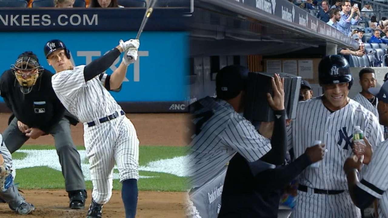 Aaron Judge vuelve a unirse a Babe Ruth en la historia de los Yankees