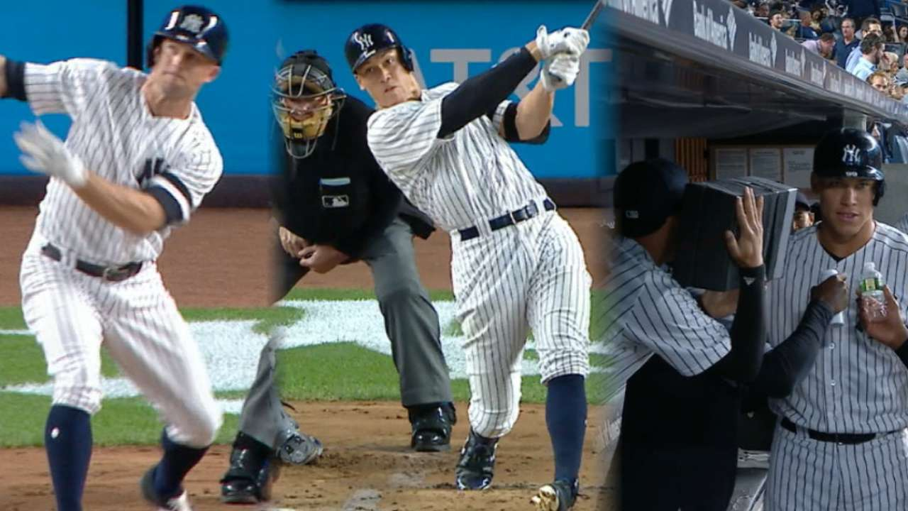Judge hits 51st HR, joins Babe in Yanks' lore