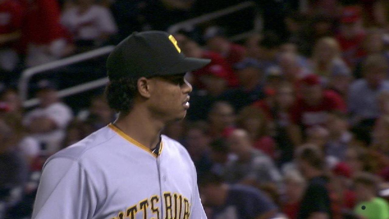 Santana strands the bases loaded