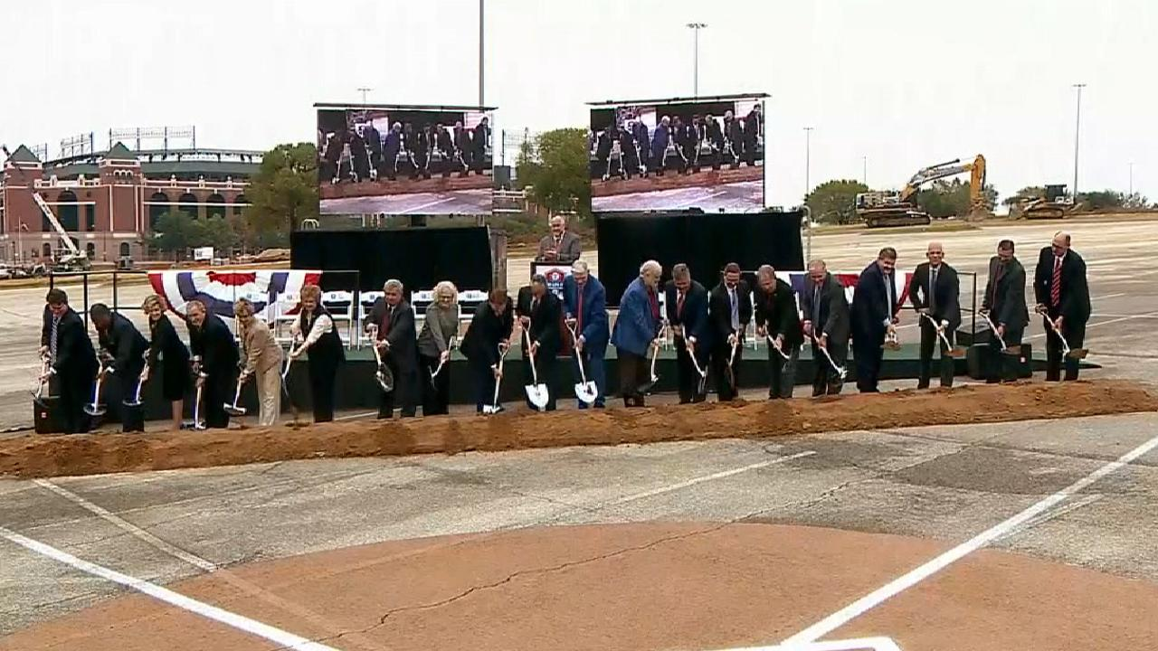 Rangers break ground on new ballpark