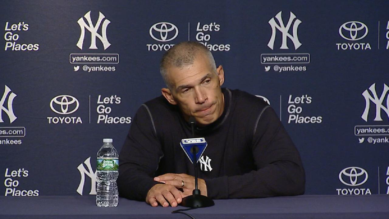 Girardi: Sanchez will be behind dish in playoffs