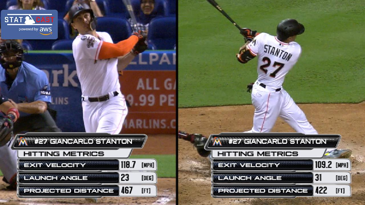 Statcast: Stanton's two homers
