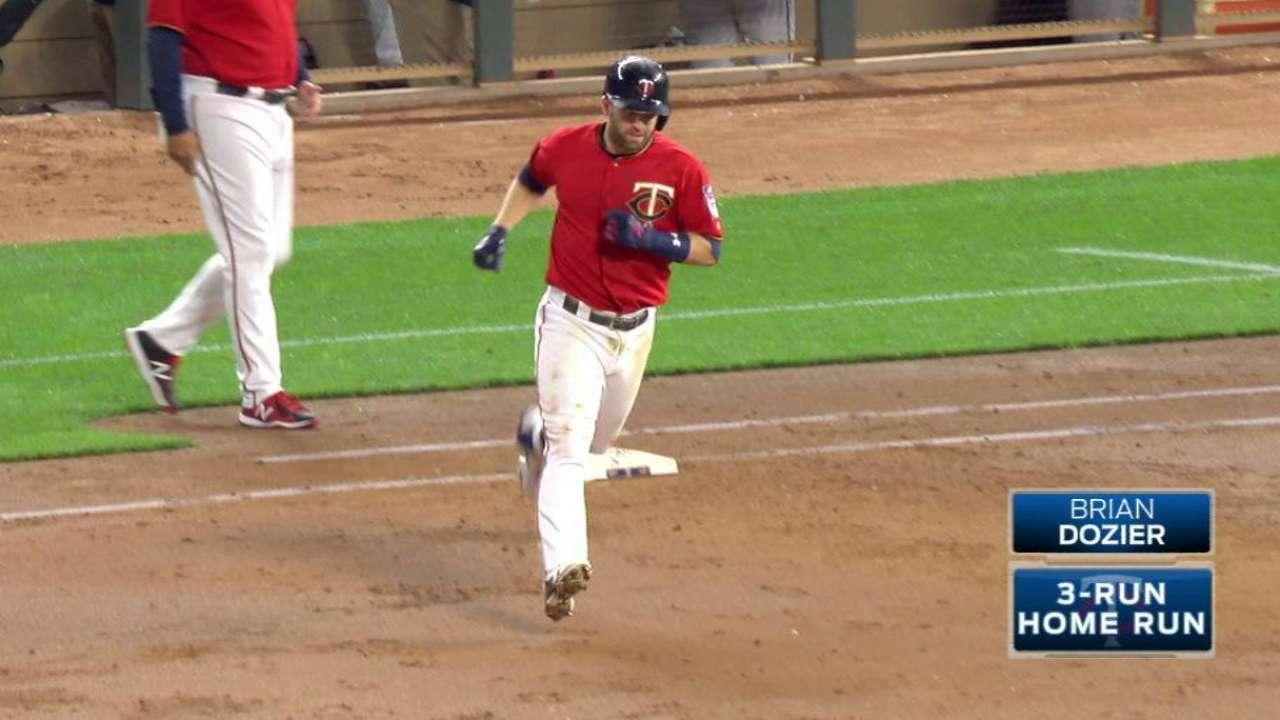 Dozier's three-run dinger