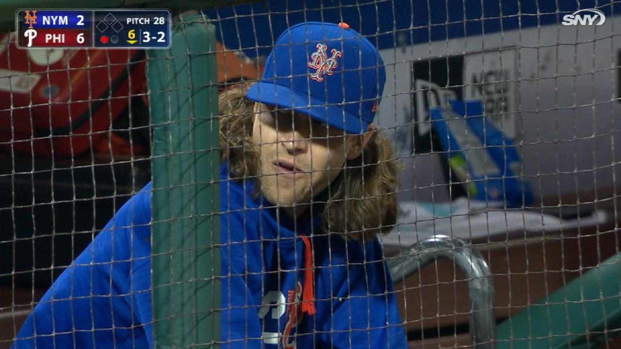 deGrom held out of final start with illness