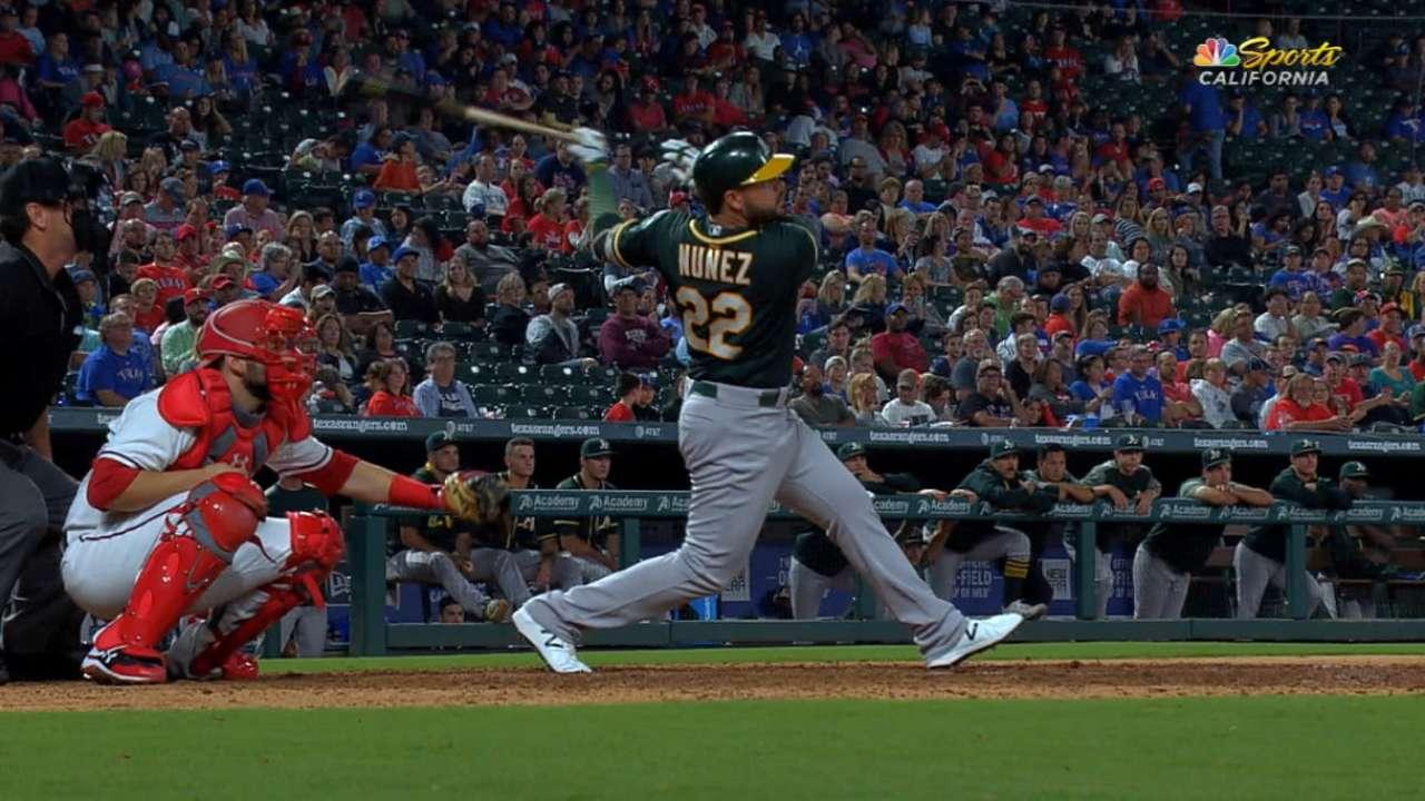 Nunez's first career homer