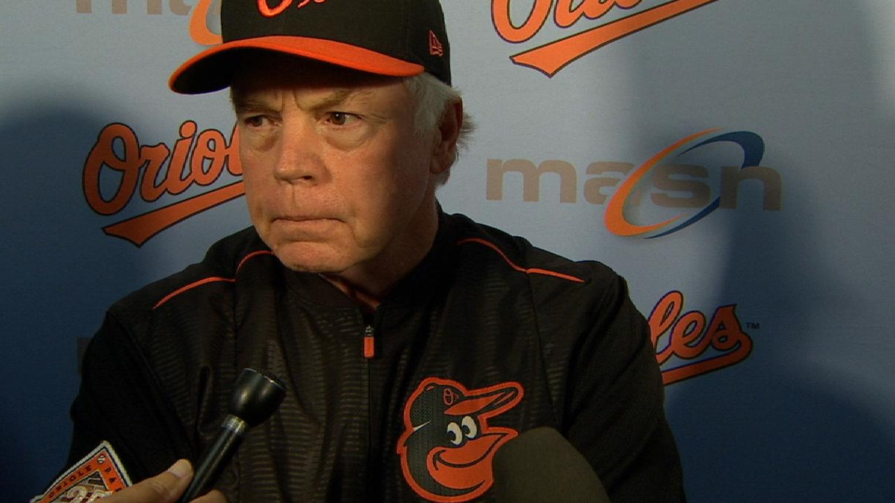 Showalter on loss to Rays
