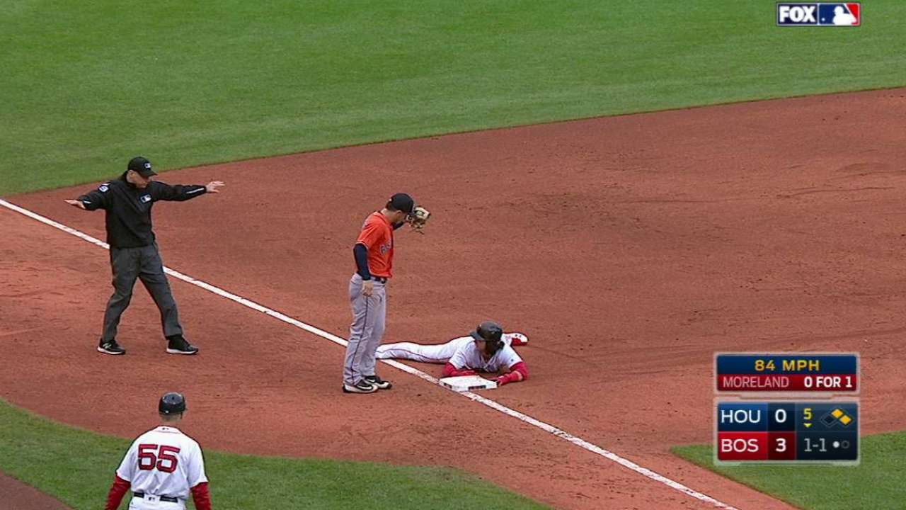 Red Sox's double steal
