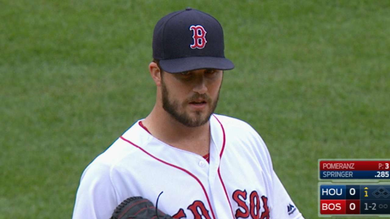 Pomeranz strong as Sox clinch