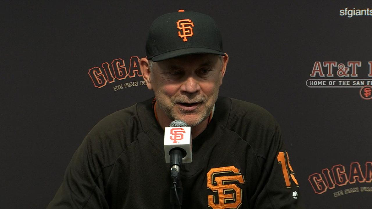 Bochy on Cain's scoreless start