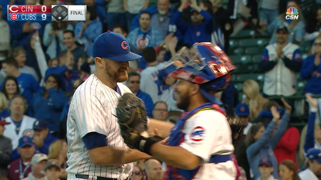 Lester sharp in tuneup as Cubs blank Reds