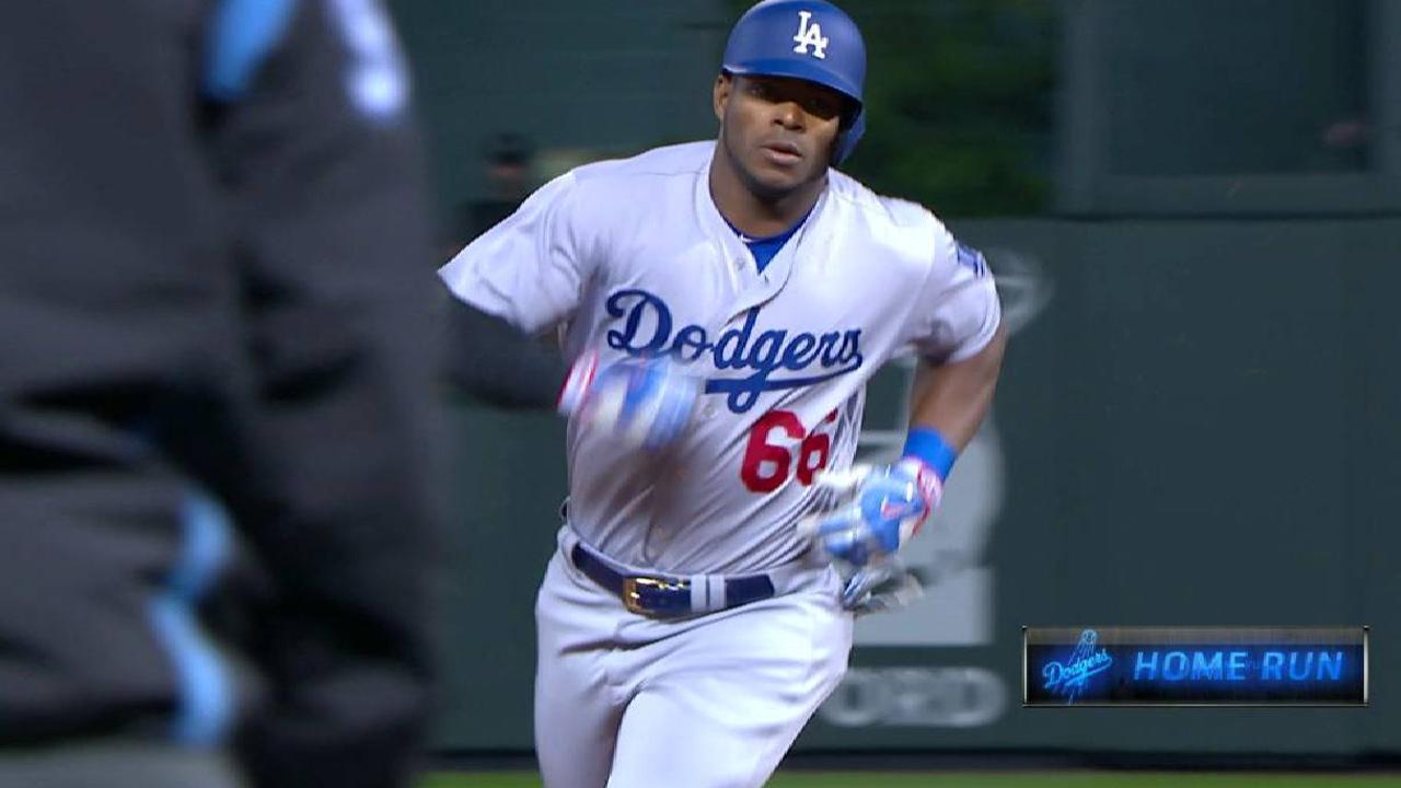 Puig pega jonrón en triunfo de los Dodgers sobre los Rockies