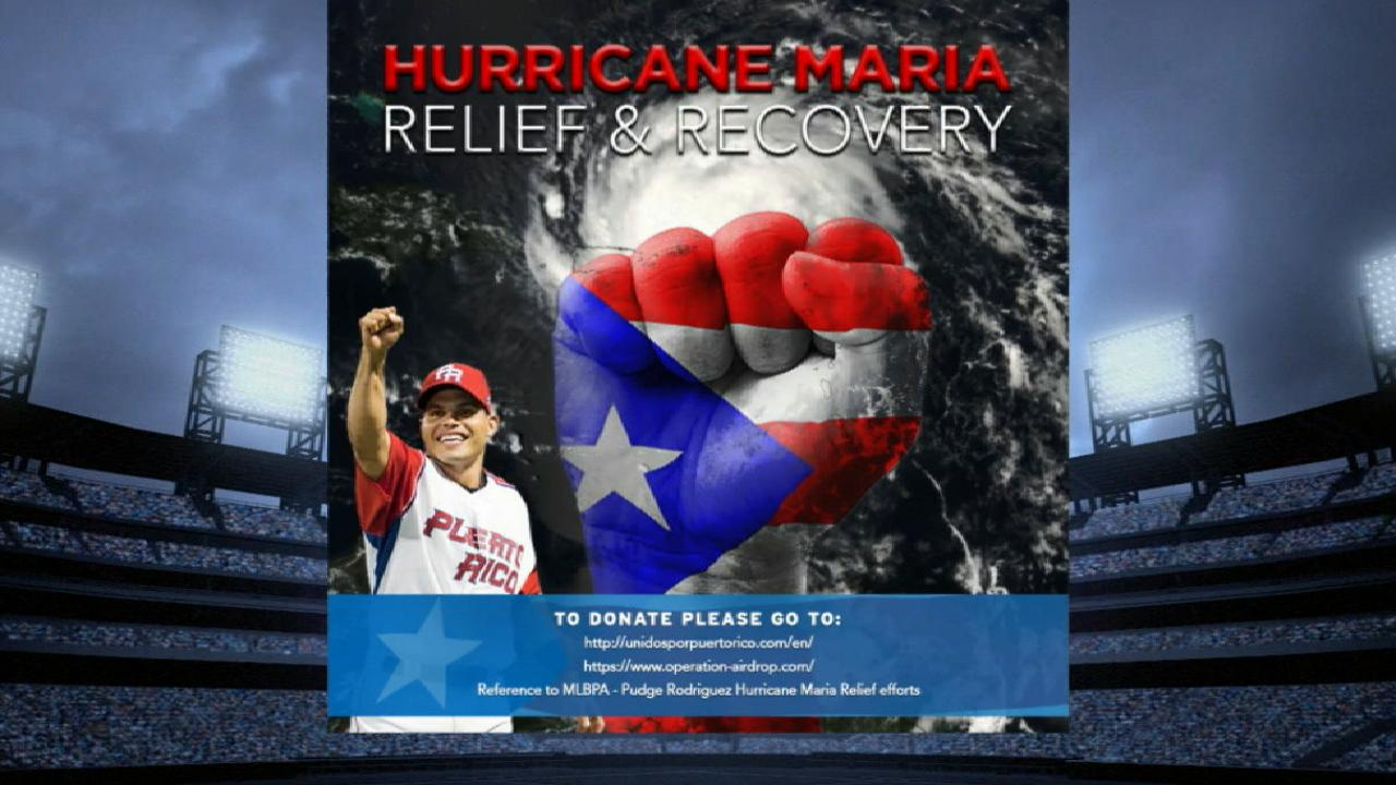 Pudge giving back with hurricane relief efforts