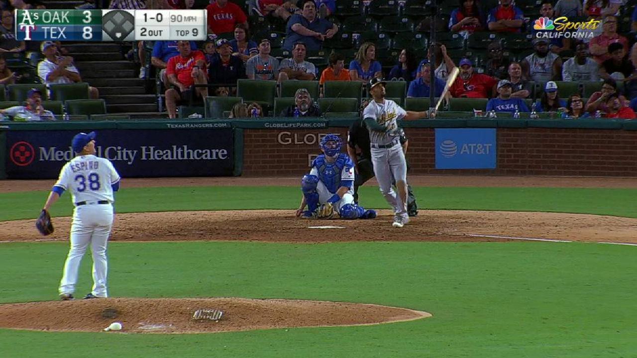 Semien's solo home run