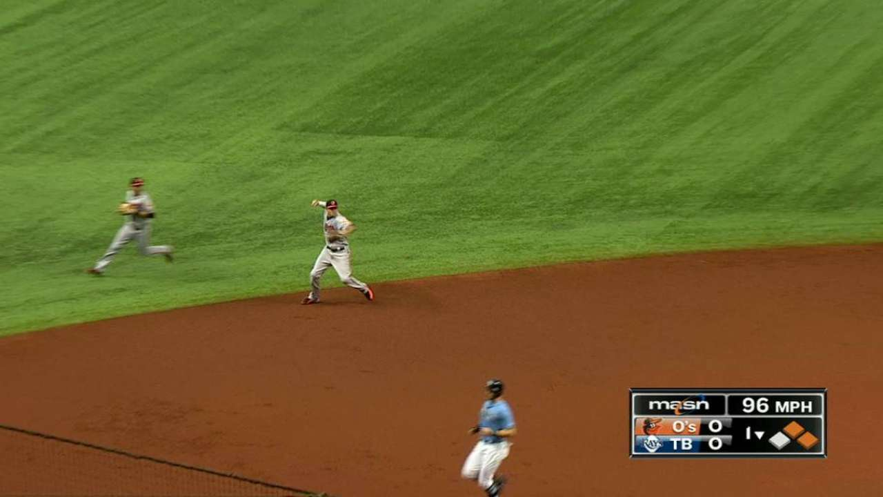 Machado's nice stop ends the 1st