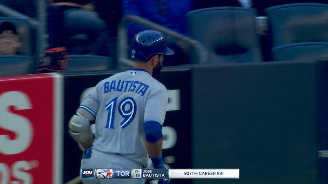 Bautista's sacrifice fly