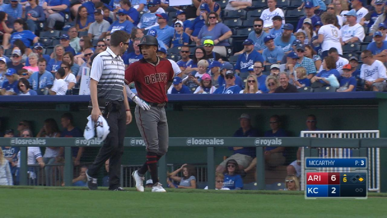 Marte leaves finale with tight left hamstring