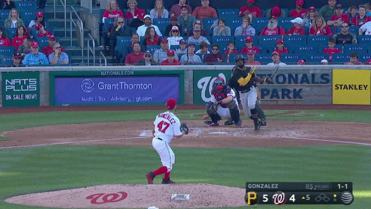 Cutch drives a double to left