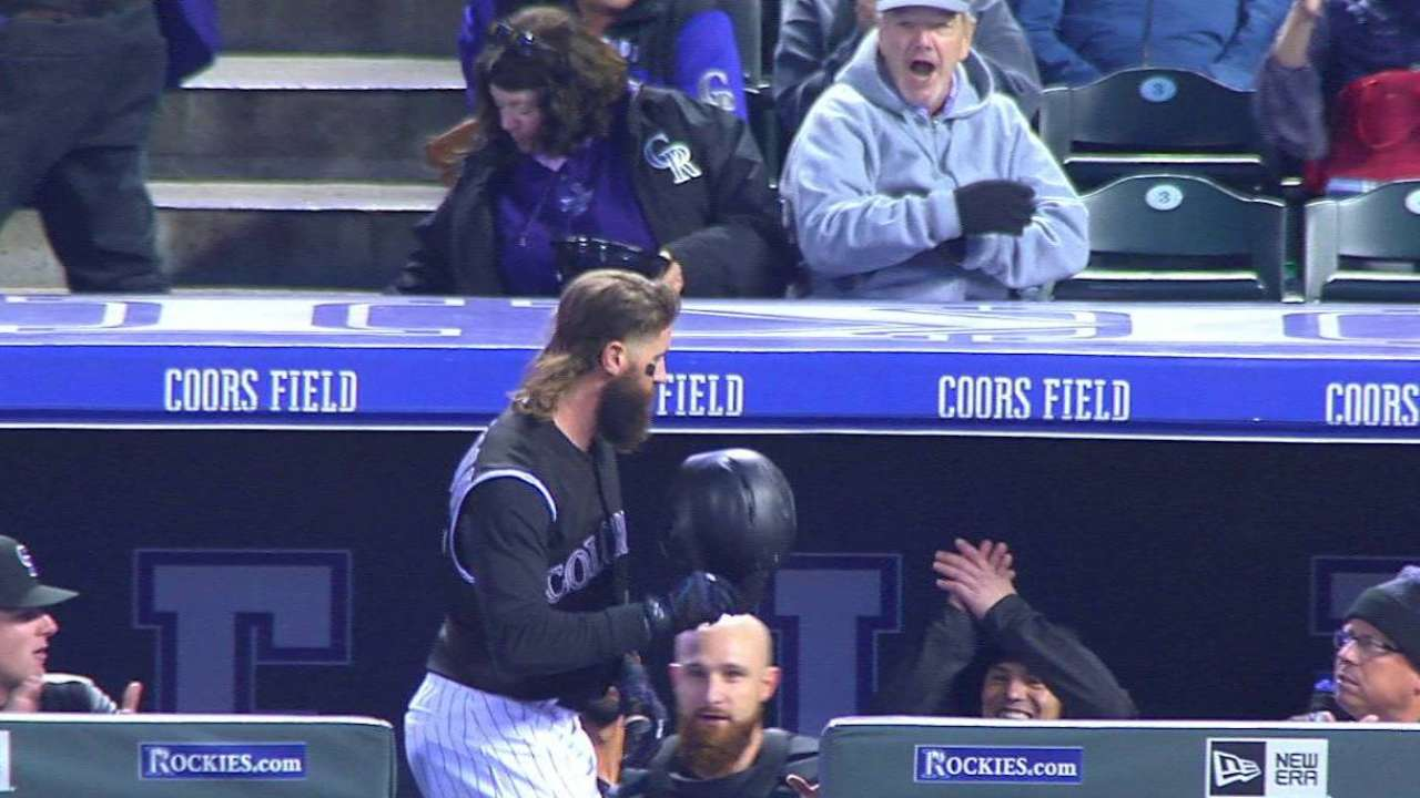 Blackmon sets leadoff RBI mark