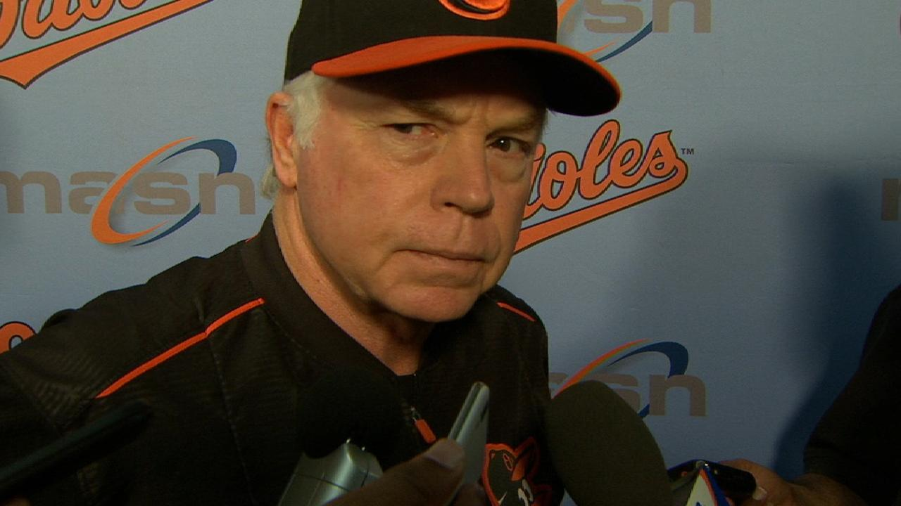 Showalter talks shutout loss