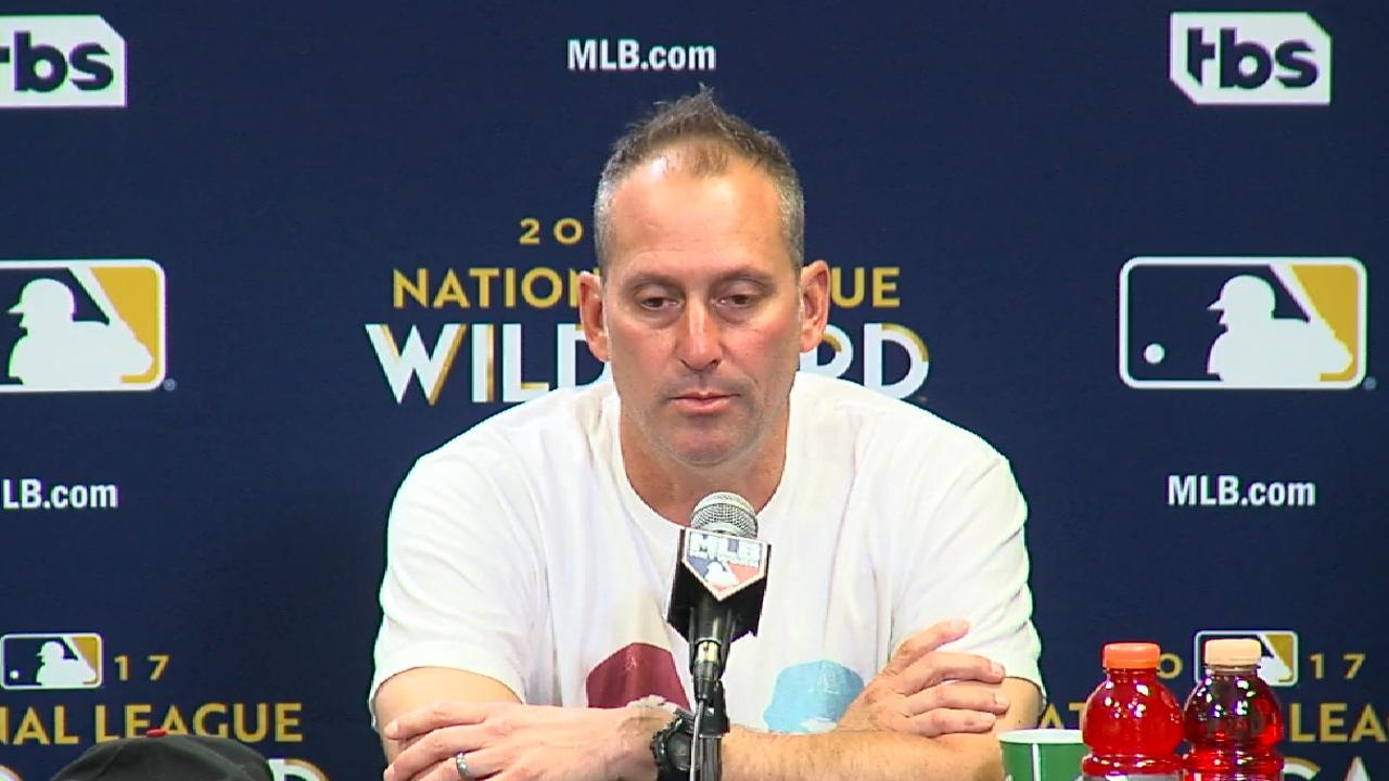 Lovullo on one-game playoff