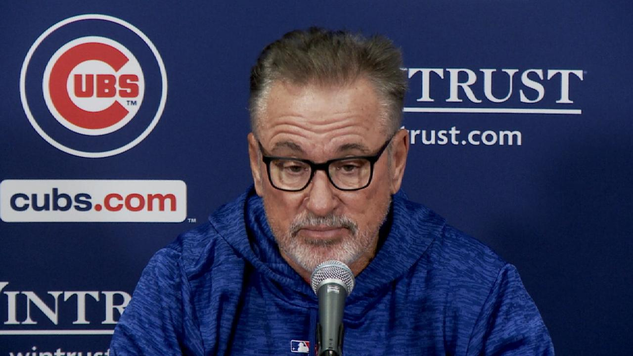 Maddon on NLDS, Cubs' experience