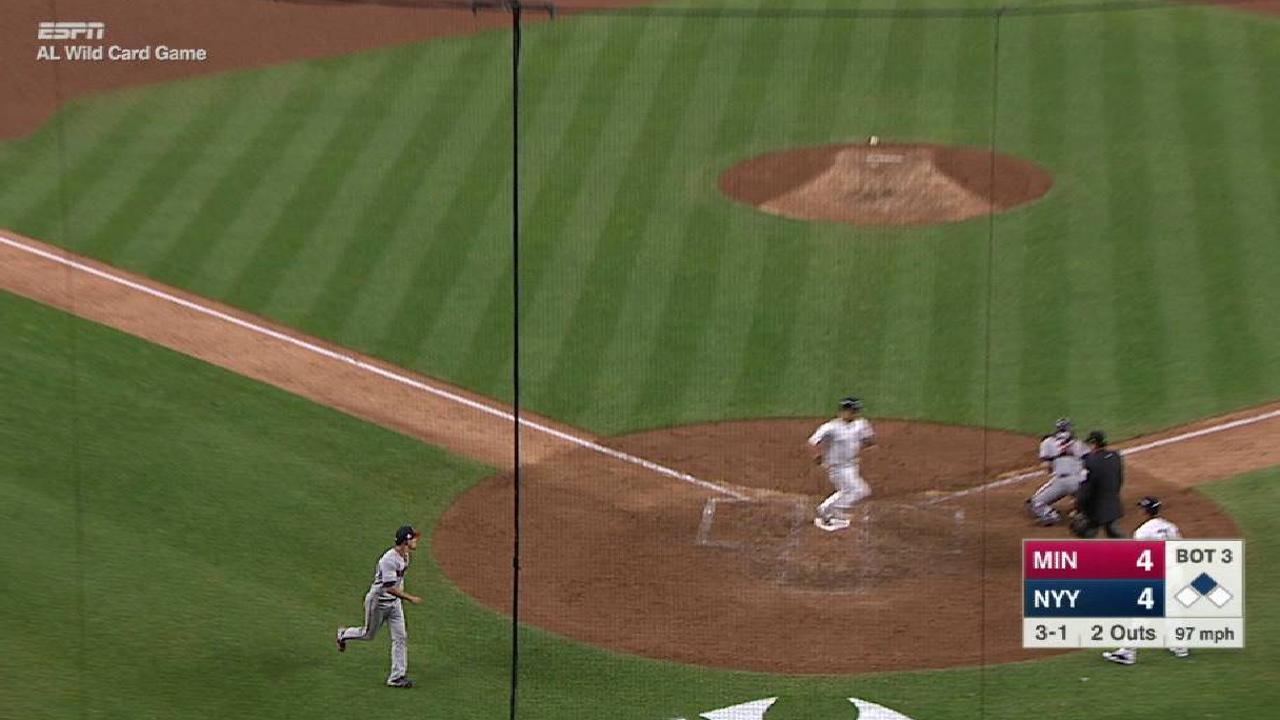 Bird's RBI single to right