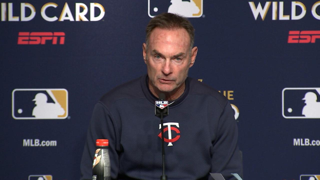 Molitor on loss, game outcome
