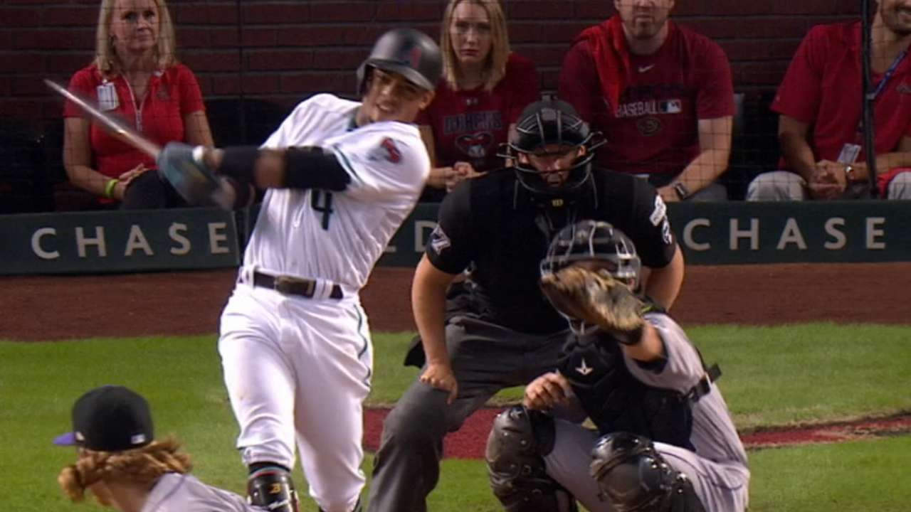 Marte collects three hits