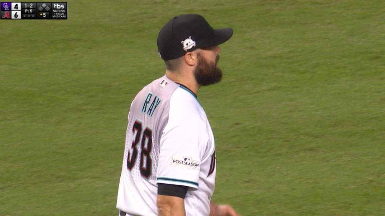 Ray fans three in relief