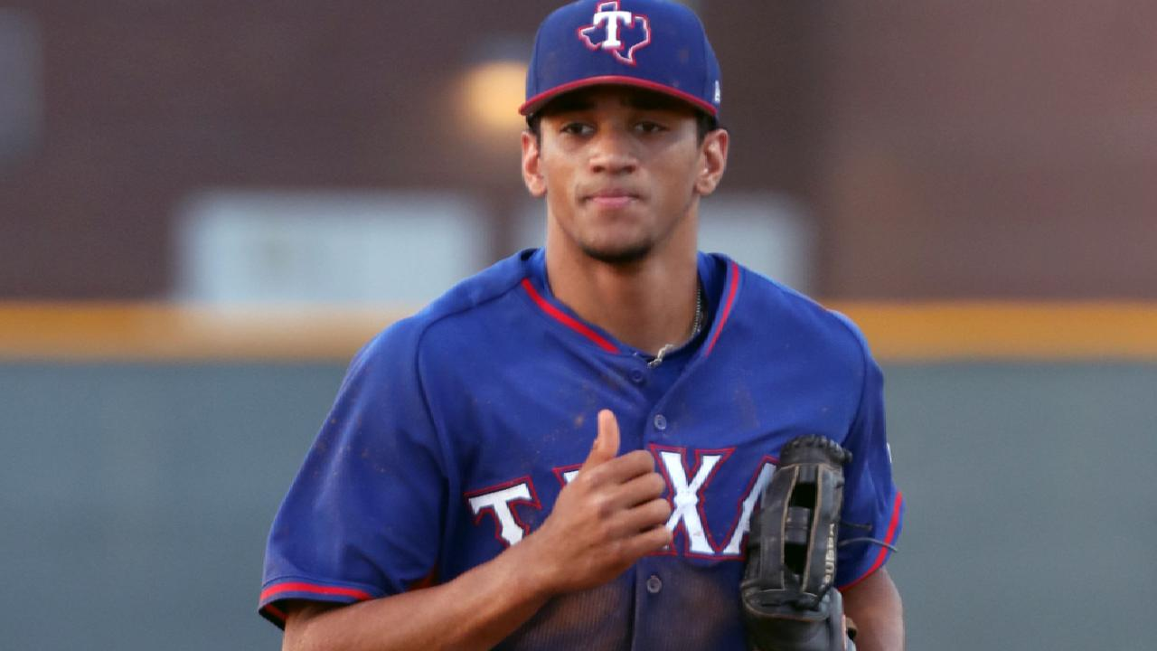 Rangers dynamic outfielders impressing at instructs