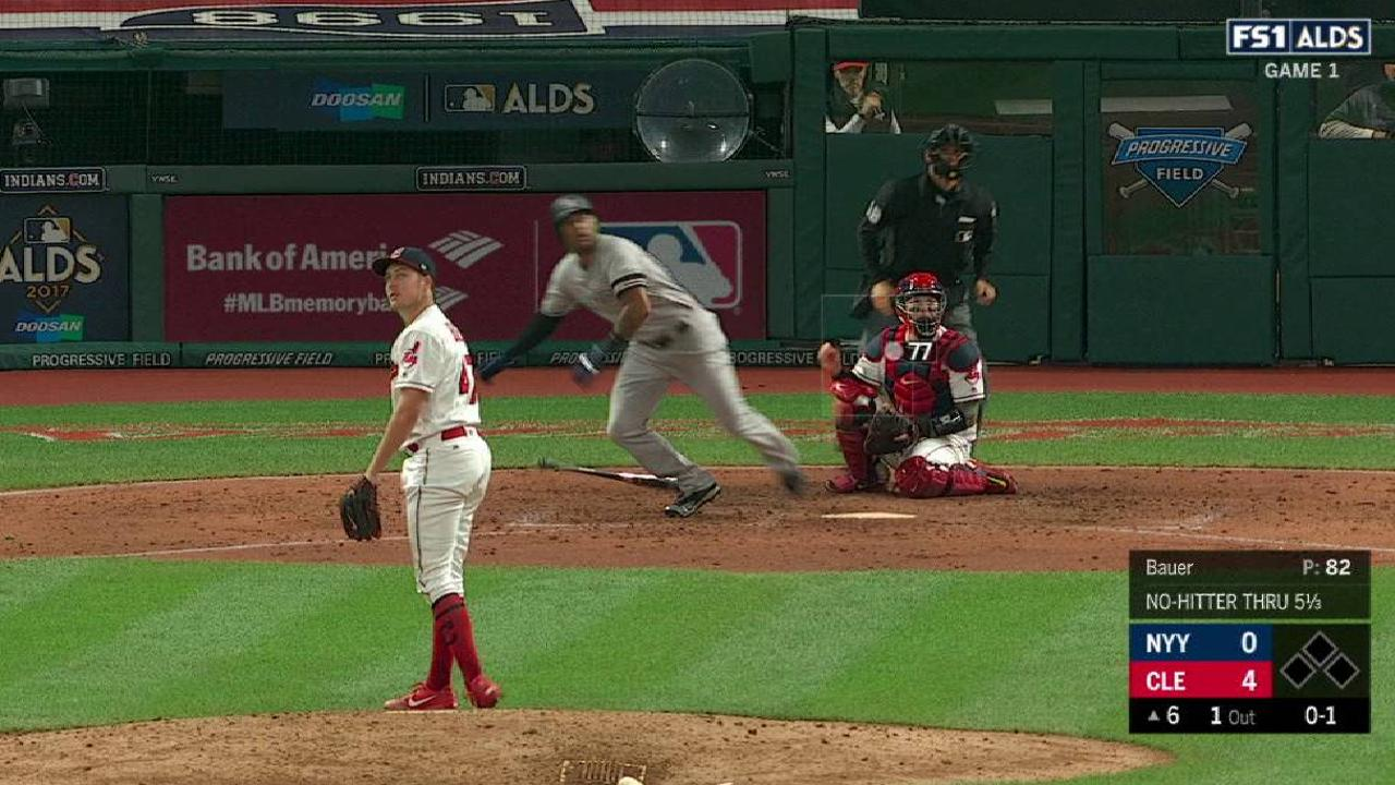 Yanks overpowered by Tribe in ALDS opener