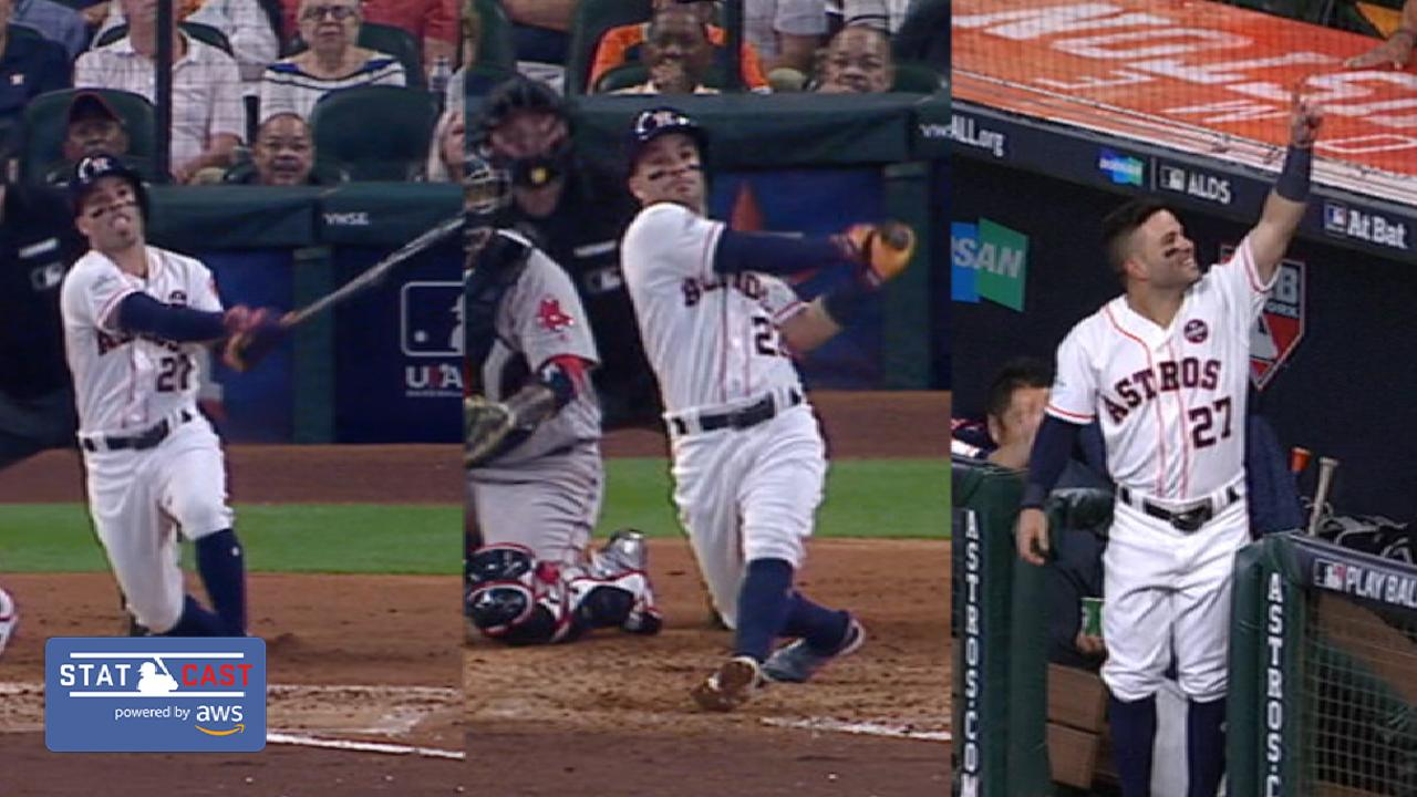 Statcast: Altuve's three homers