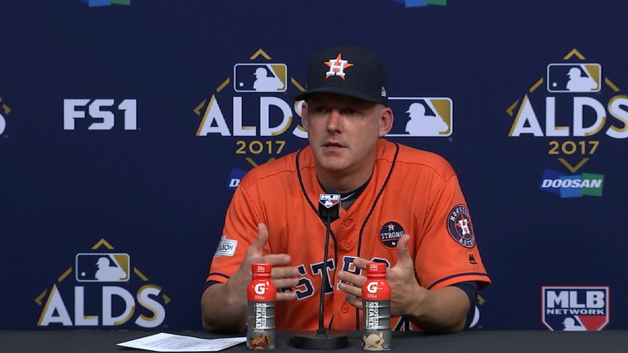 Hinch on Game 2 win over Sox