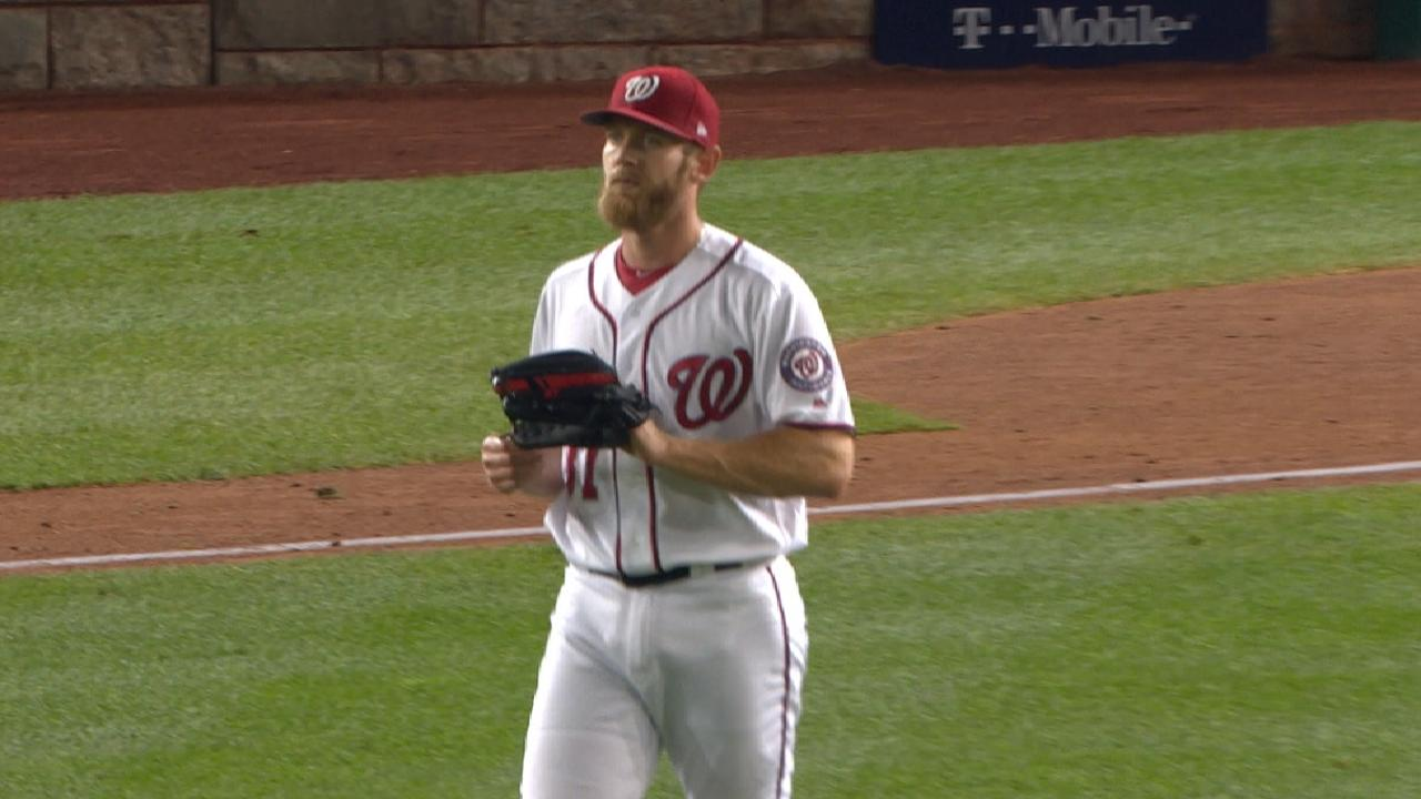 Strasburg K's 10 in Game 1