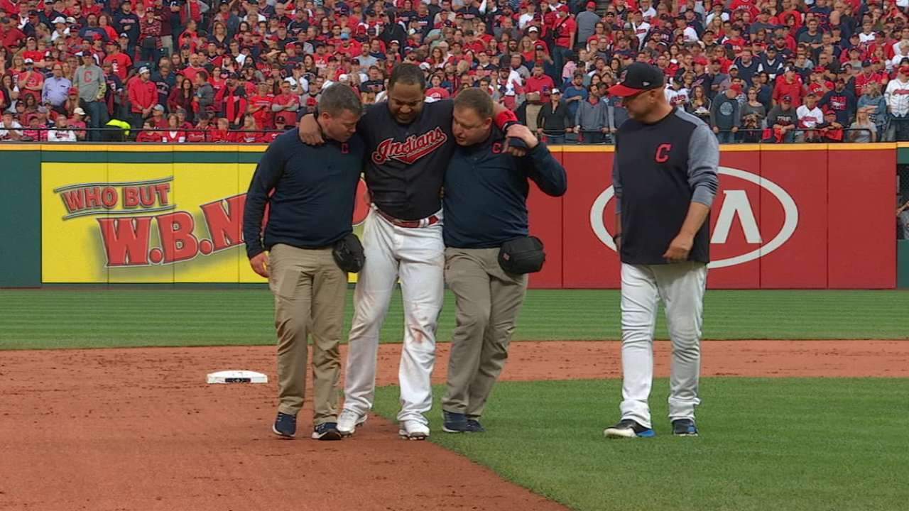 Indians lose Encarnacion to ankle sprain