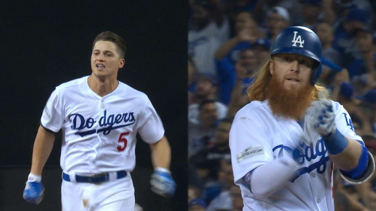 Seager, Turner drive in a pair