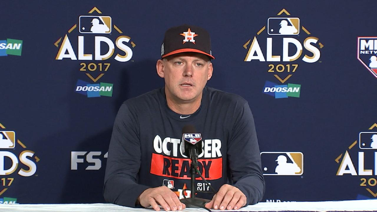 Oct. 7 A.J. Hinch workout day interview