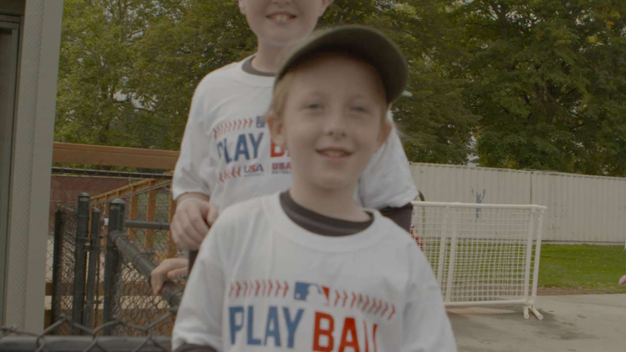Youngsters come out for Play Ball in Portland