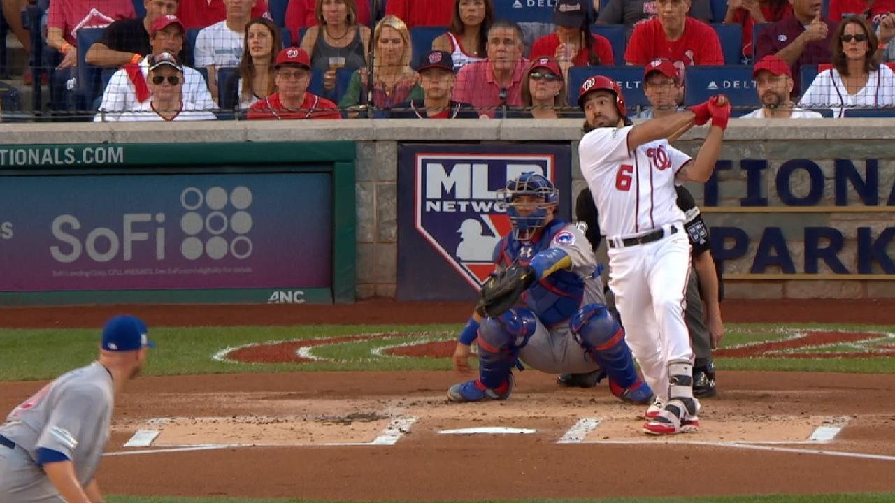 Rendon's solo homer in the 1st