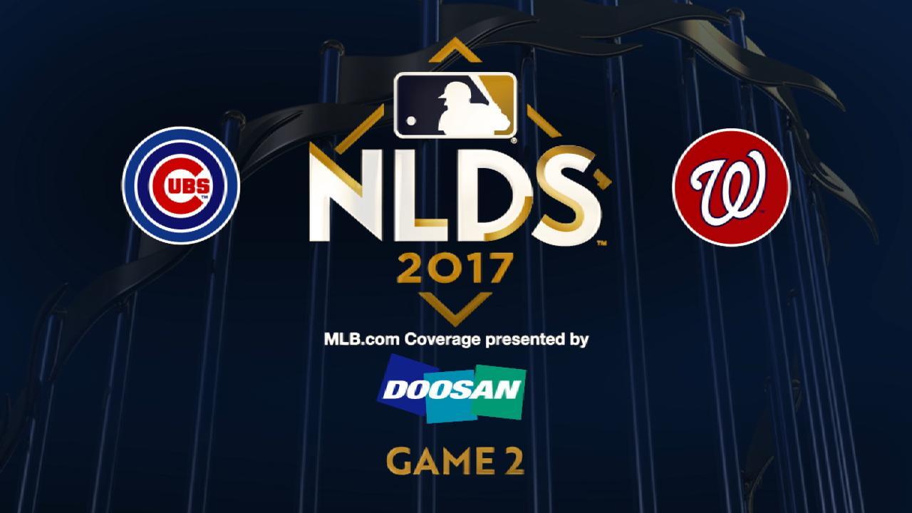 10/7/17: Jonrones decisivos permiten a Nacionales igualar la serie a Cubs