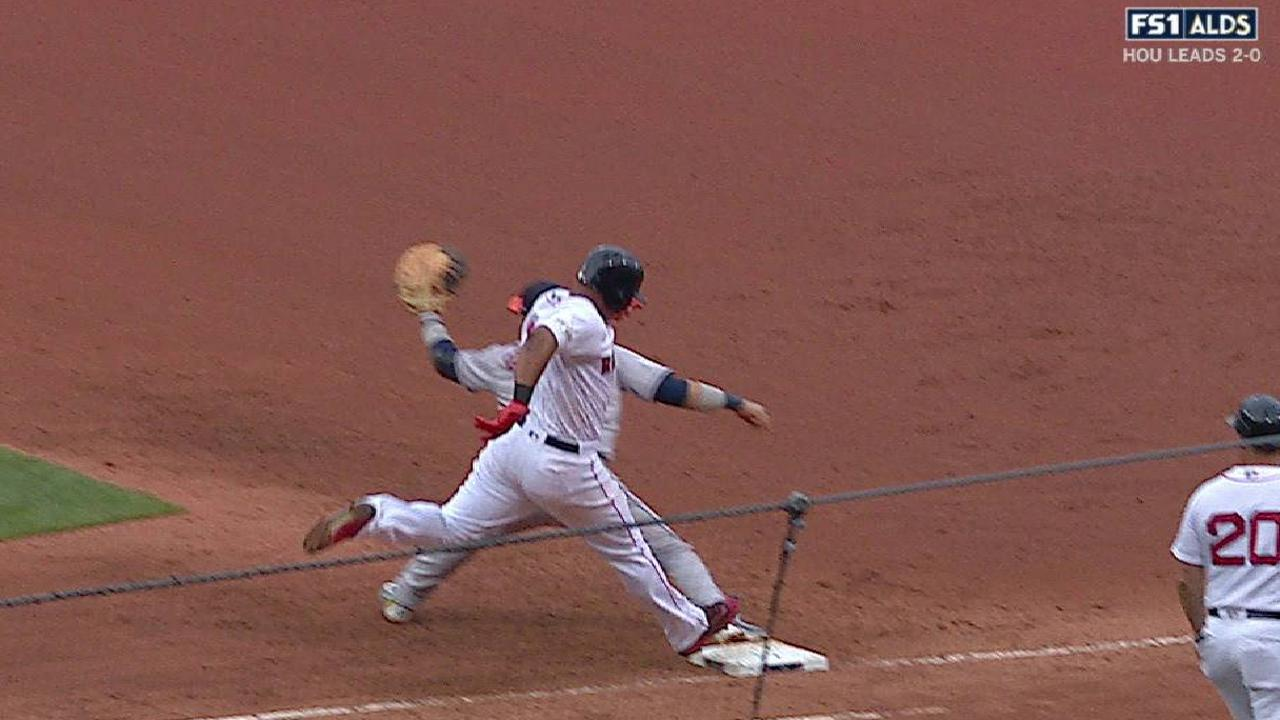 Devers out after call stands