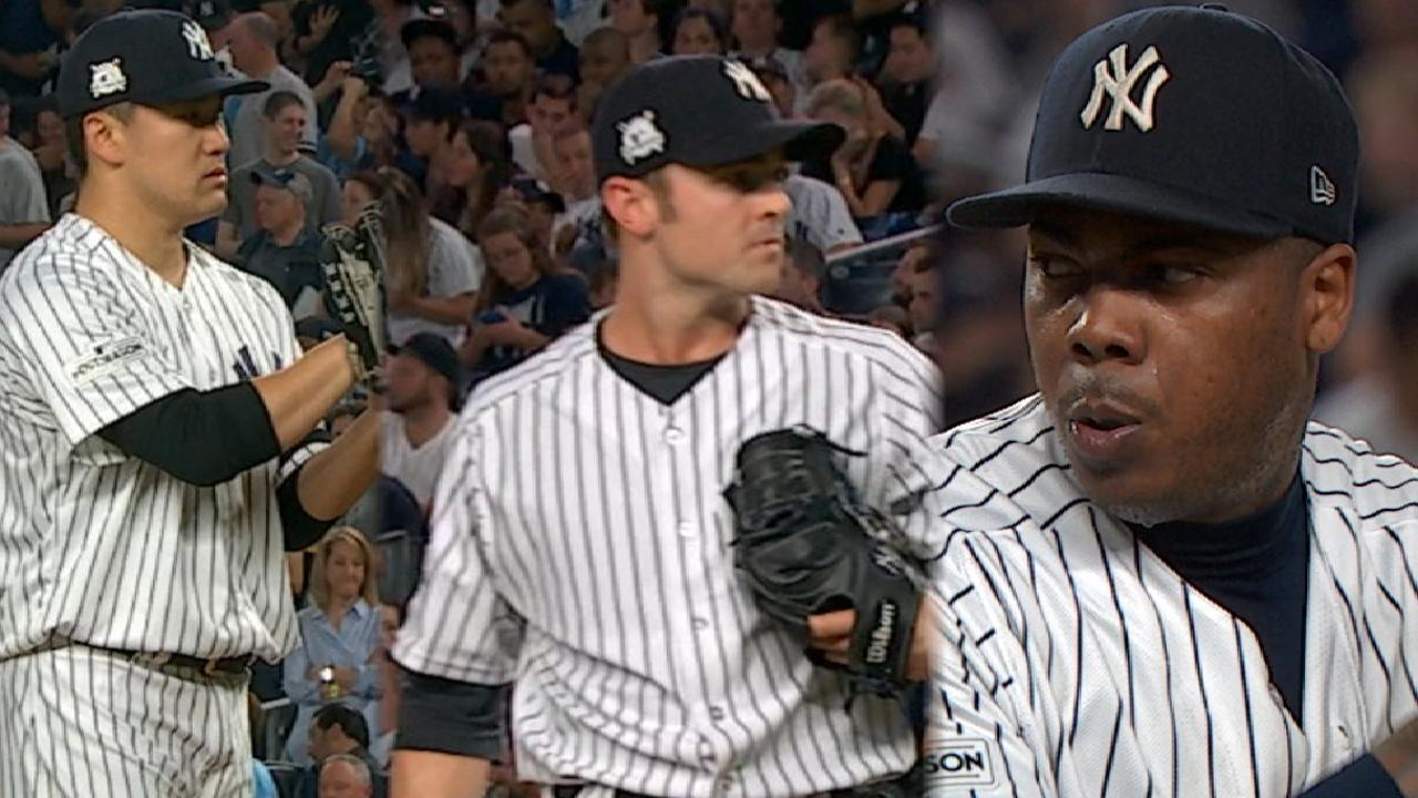 Big Bird! Solo homer, 5-out save lift Yankees
